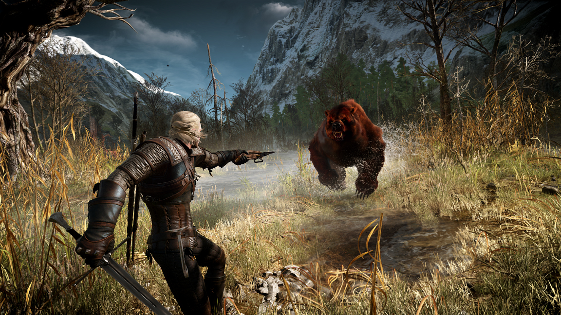 The_Witcher-3-Wild-Hunt-Geralt-shooting-his-crossbow
